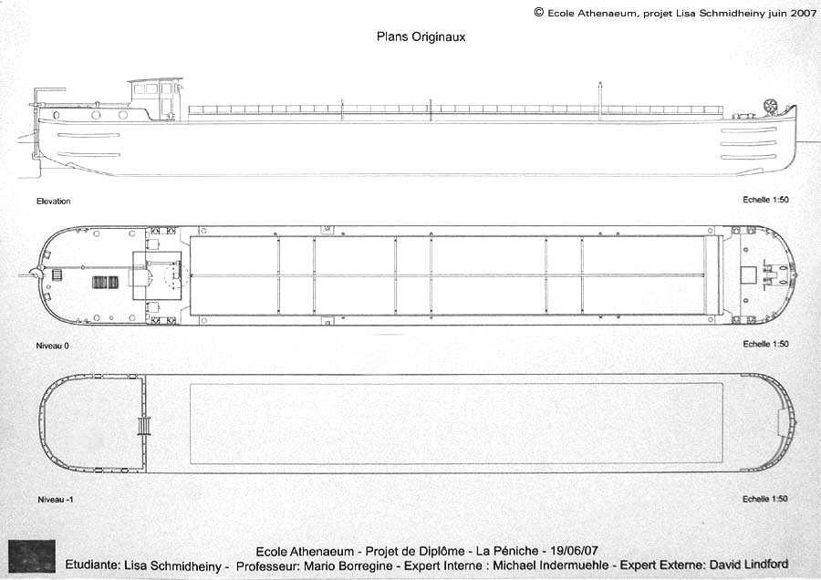 Plan péniche Freycinet